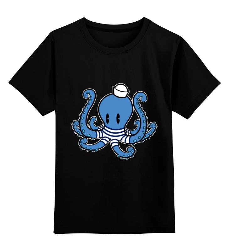 Детская футболка Printio Осьминог морячок цв.черный р.164 0000003402484 по цене 990