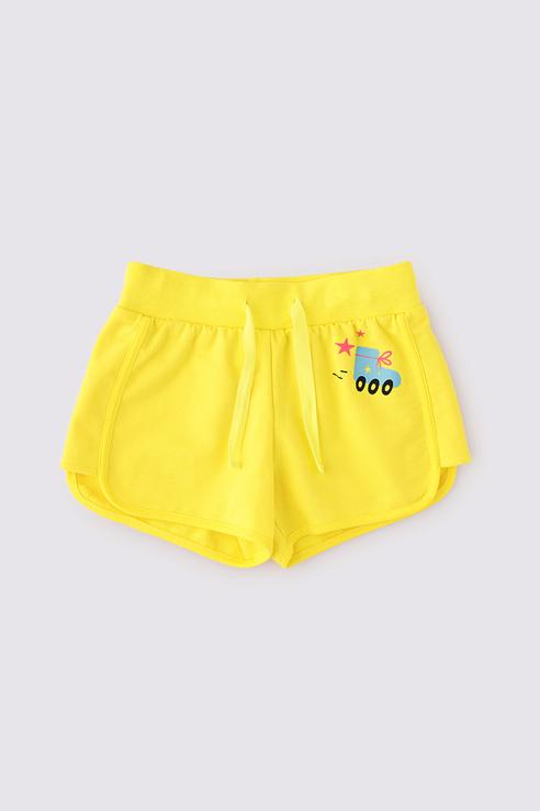 Купить К 4820/сочный лимон к1258, Шорты для девочек Crockid цв. желтый р-р. 134,