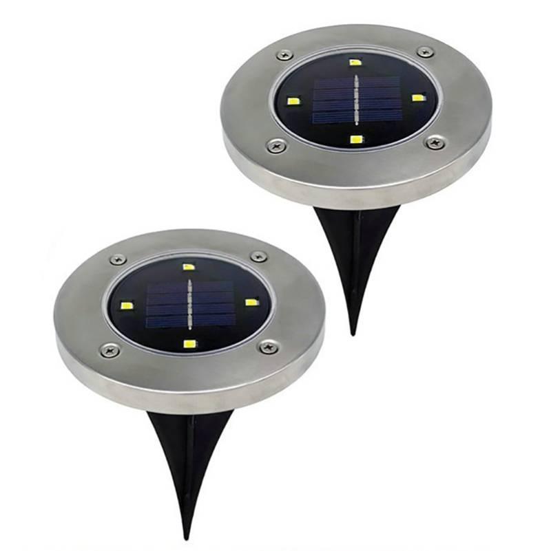 Светильник уличный, 4LED, на солнечной батарее, 2шт