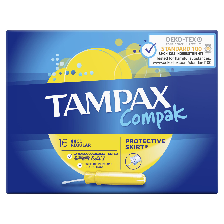 Купить Тампоны Tampax Regular Duo 16шт, тампоны 83730738