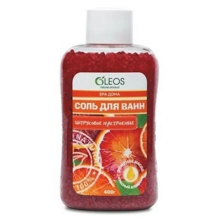 Купить Морская соль для ванн OLEOS «Цитрусовое настроение», 400 г
