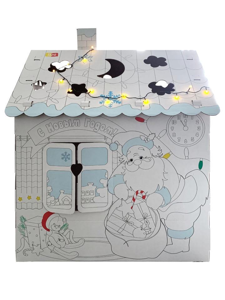 Домик раскраска RONI НОВЫЙ ГОД картонный