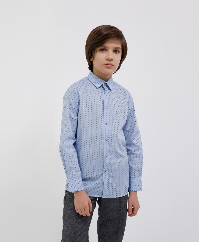 Сорочка голубая с длинным рукавом Gulliver 221GSBJC2311 р.140