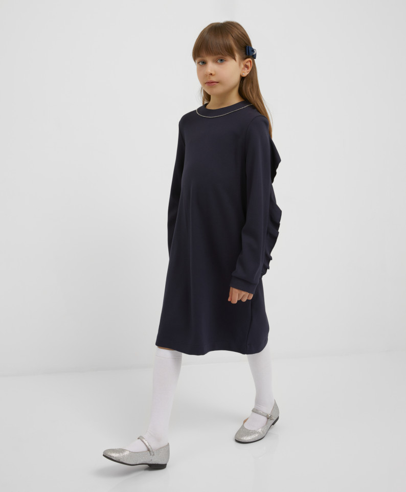 Платье темно-синее из джерси Gulliver 221GSGMC5001 р.134