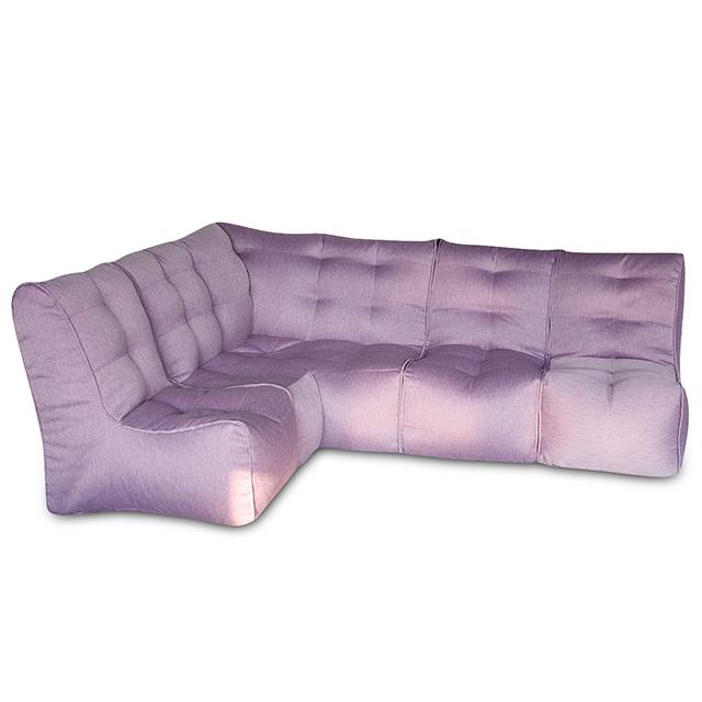 Диван SHAPE Фиолетовый угловой +3