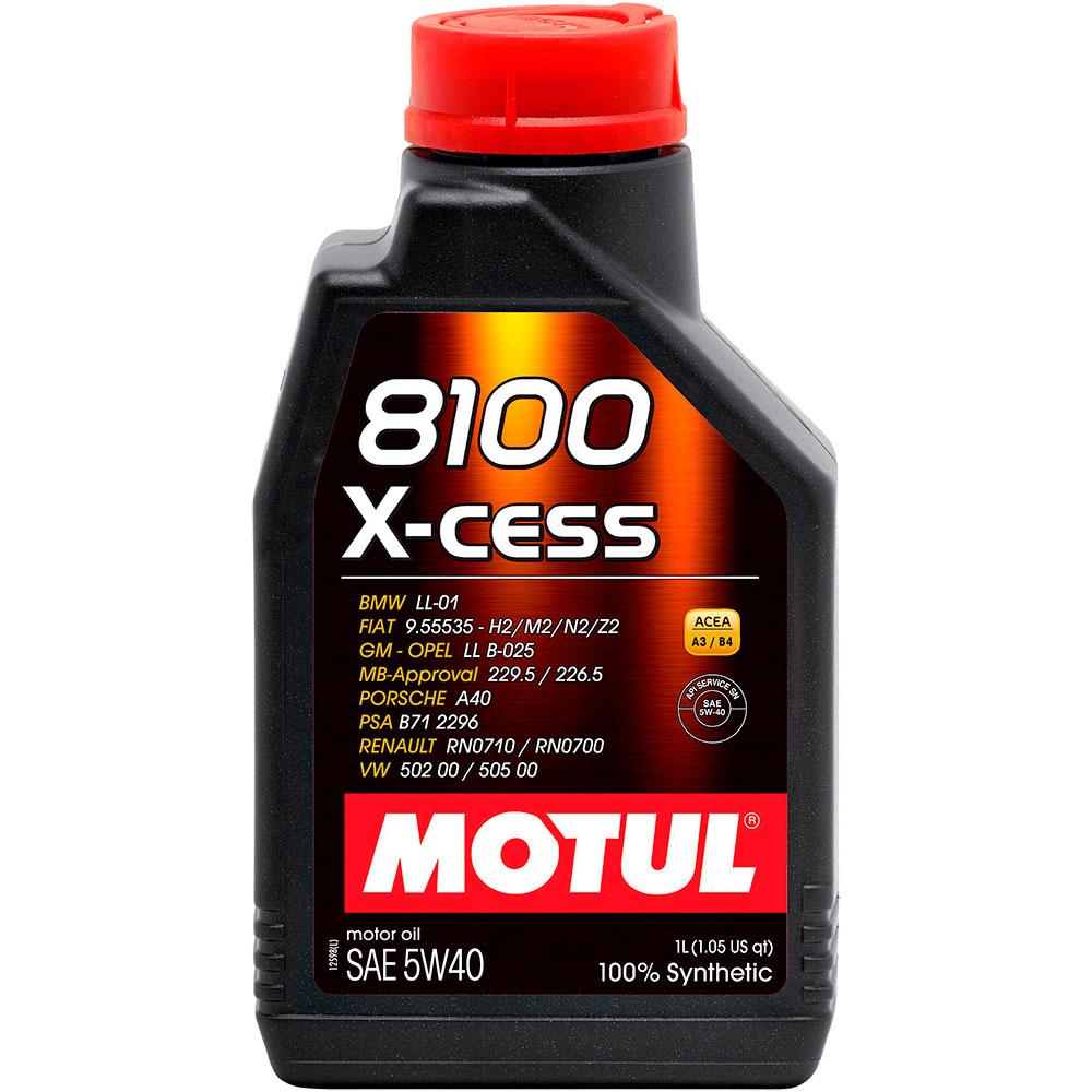 Моторное масло Motul 8100 X-cess 5w-40 1л 102784