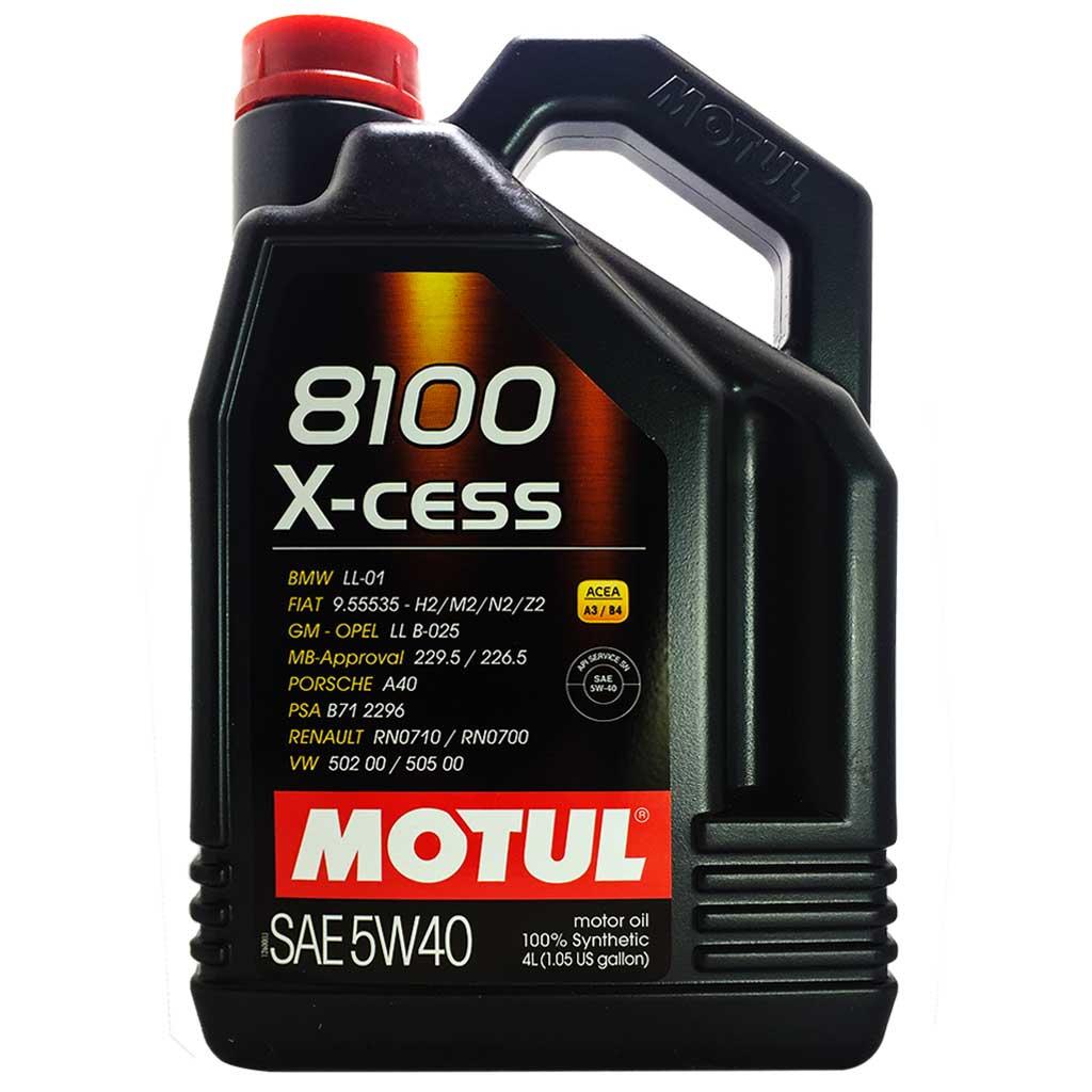 Моторное масло Motul 8100 X-cess 5w-40 4л 104256