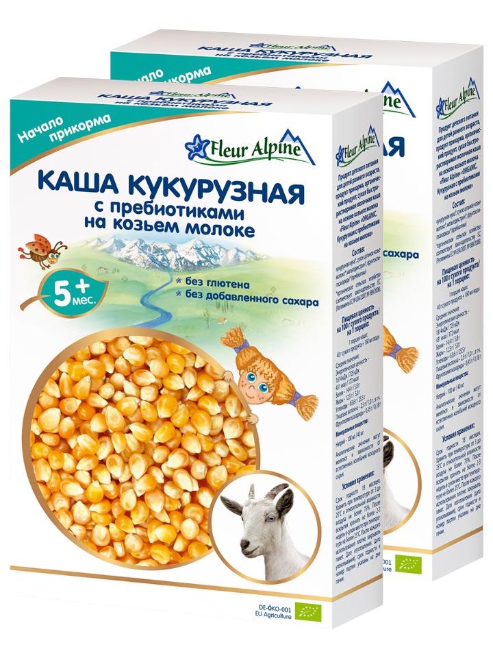 Каша на козьем молоке детская КУКУРУЗНАЯ с пребиотиками, с 5 месяцев, 2 шт. по 200 г
