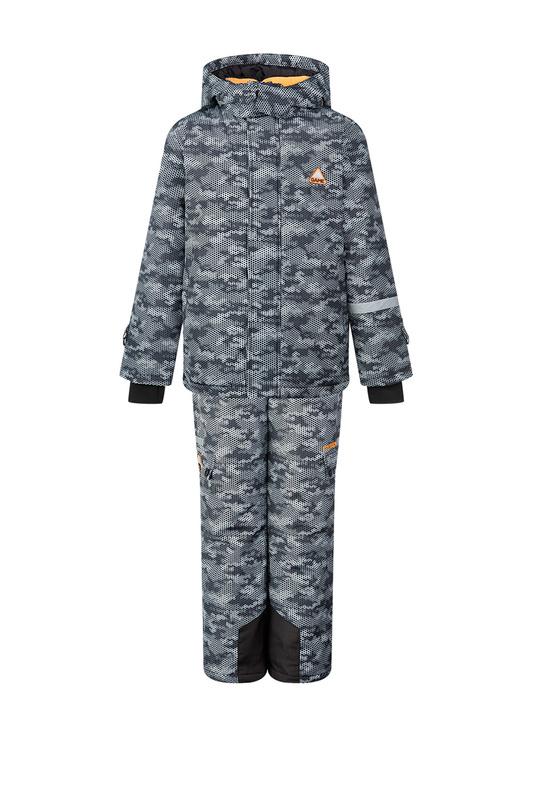 Комплект (куртка, брюки) PLAYTODAY 32011011 р.140 Play Today 32011011 ЧЕРНЫЙ, СЕРЫЙ