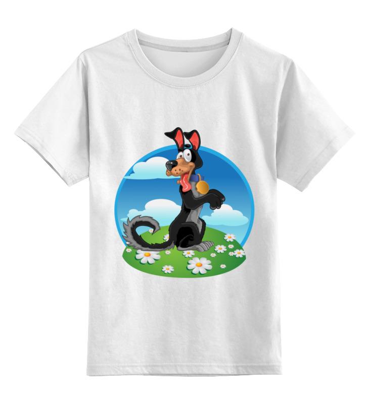Детская футболка Printio Собака цв.белый р.140 0000003424949 по цене 790