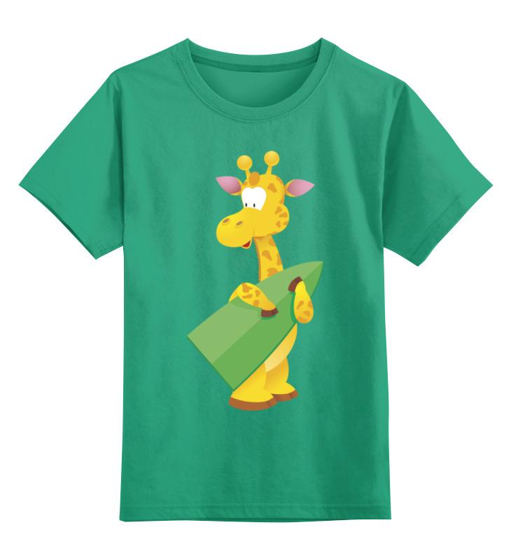 Детская футболка Printio Жираф цв.зеленый р.140 0000003444677 по цене 990