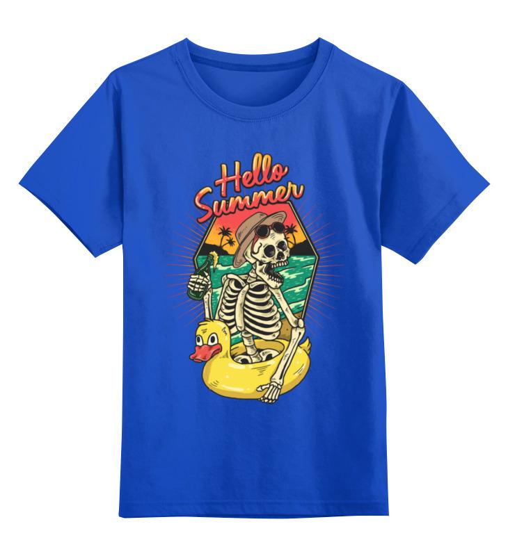 Детская футболка Printio Hello summer цв.синий р.140 0000003458959 по цене 990