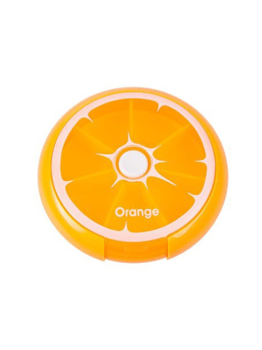 Автоматическая таблетница с 7 ю отделениями оранжевый