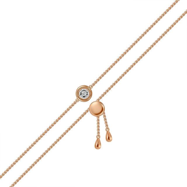 Браслет женский MIUZ Diamonds (Московский ювелирный завод) B2018-BR470017ADI