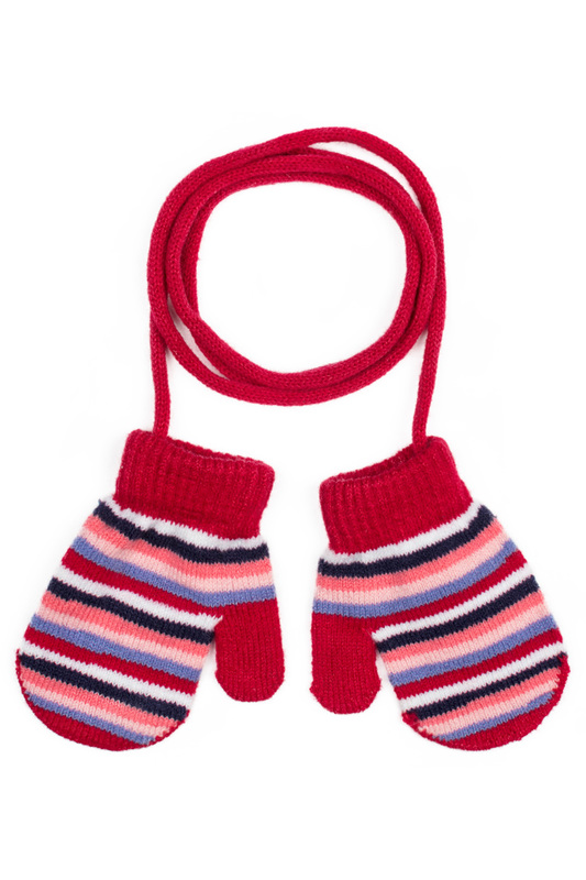 Варежки PlayToday 378041 красный, розовый, синий 12 Play Today