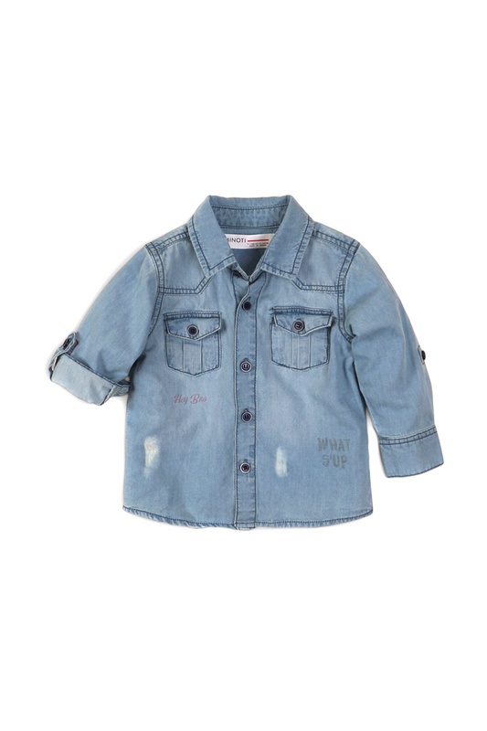 Рубашка MINOTI bro1 джинсовый 104