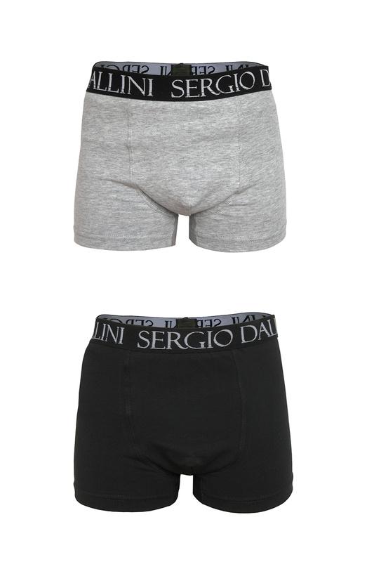 Купить Трусы боксеры 2 шт SERGIO DALLINI sg600 черный, серый 128,