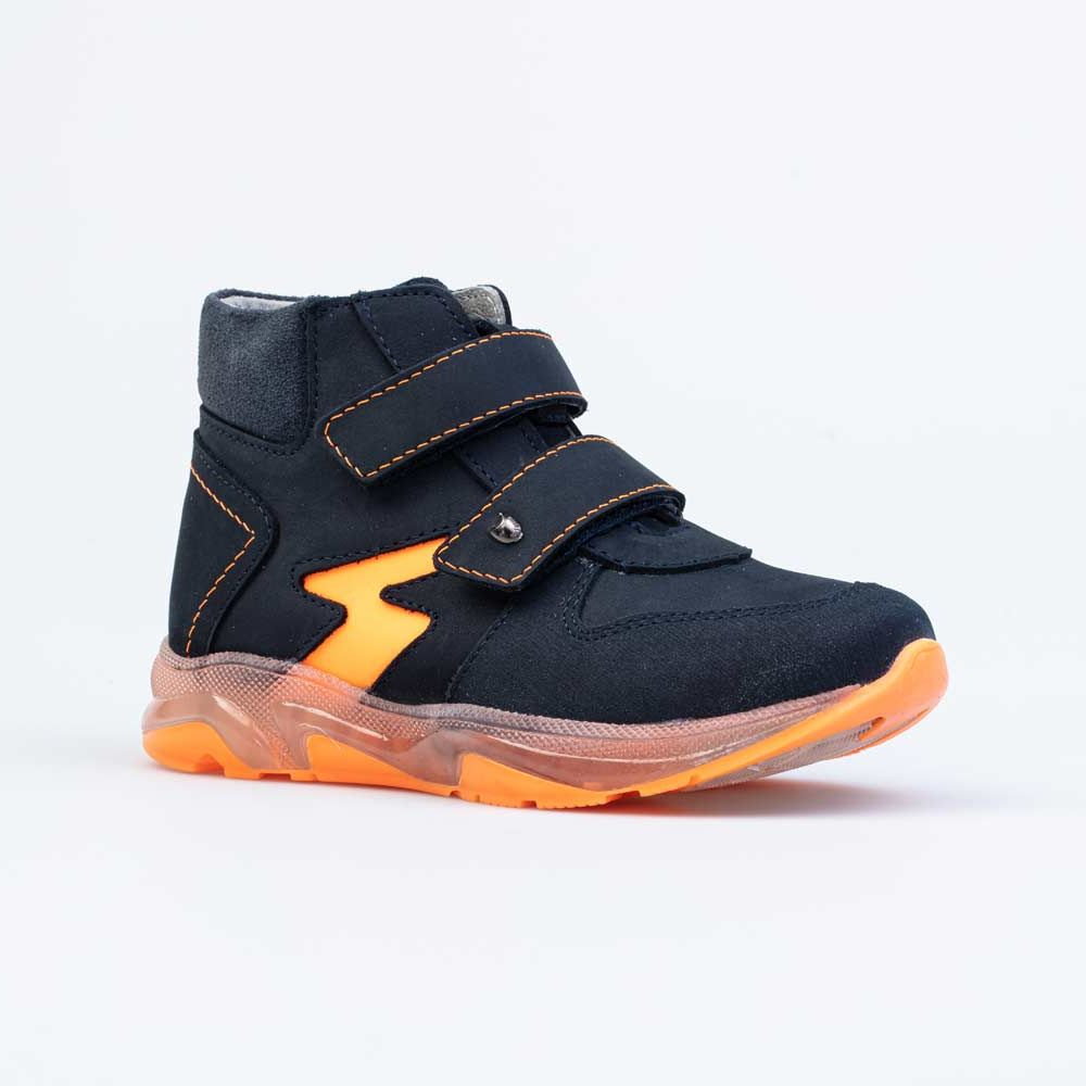 Ботинки Котофей 352269-24 синий, оранжевый 27