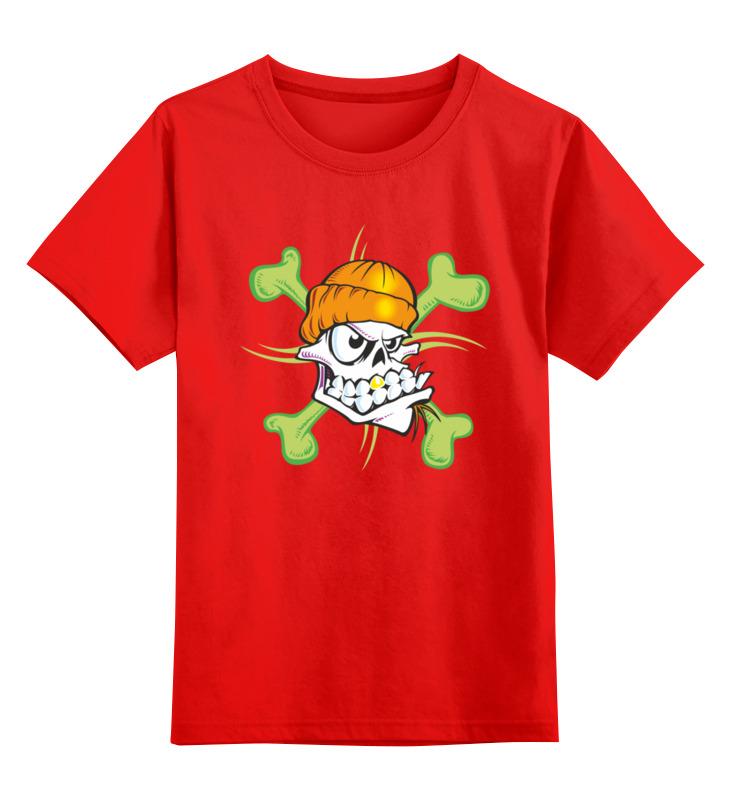 Детская футболка Printio Череп цв.красный р.128 0000003455669 по цене 990