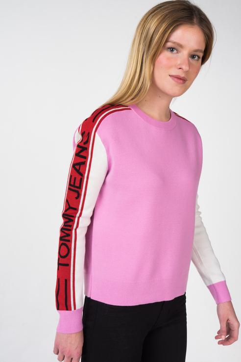 Джемпер женский Tommy Jeans DW0DW05152 розовый S