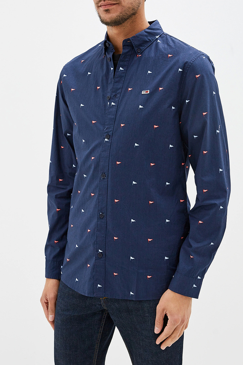 Рубашка мужская Tommy Hilfiger DM0DM07130 синяя 46