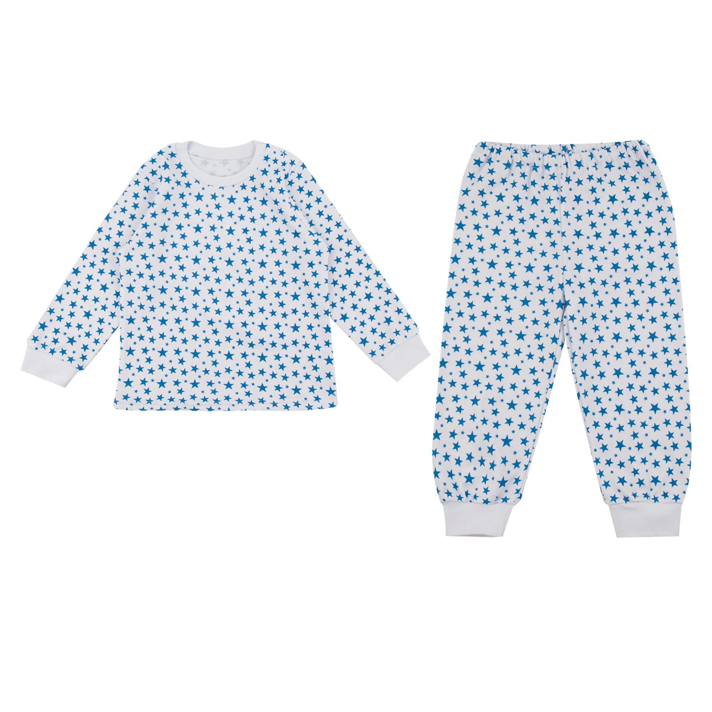 Купить ЛКЛ9206104ин48, Пижама джемпер/брюки Leader Kids, цвет: белый/голубой р.74,