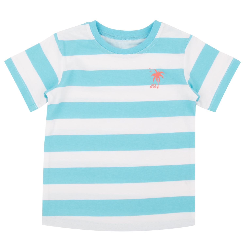 Купить ЛКЛ21221517ку50У, Футболка Leader Kids, цвет: белый/голубой р.104,