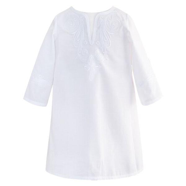 Крестильная рубашка мод. 2 с вышивкой стандарт от Золотой Гусь