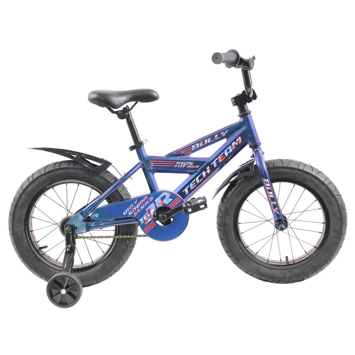 """Детский велосипед Фэтбайк Tech Team Bully 16"""" синий"""