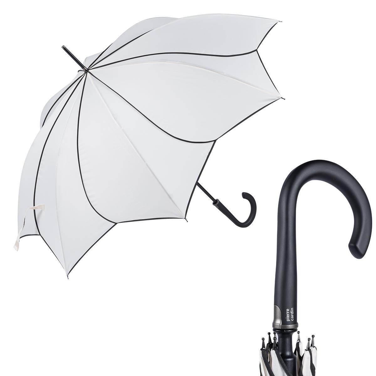 Зонт-трость женский полуавтоматический Pierre Cardin 82267-LA белый