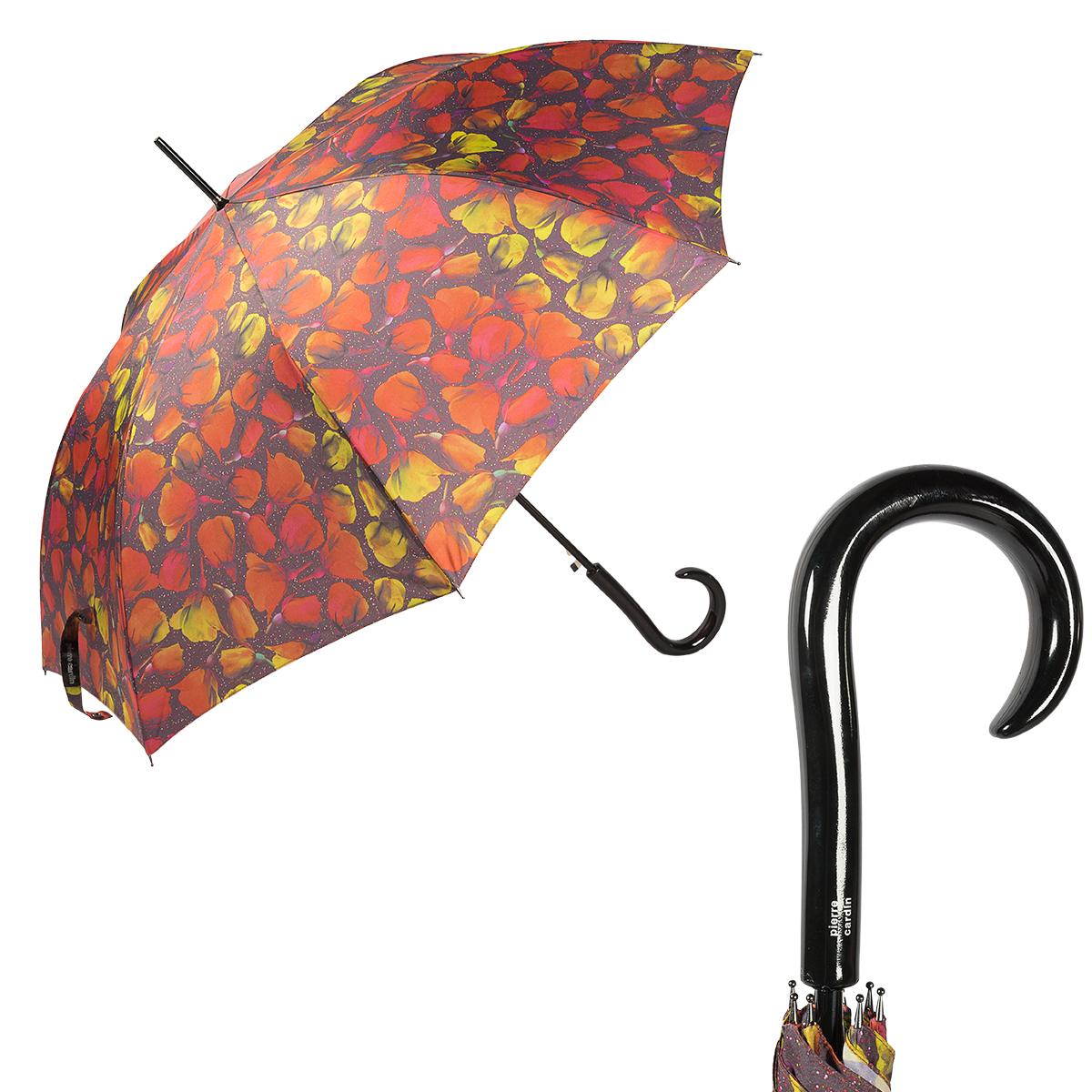 Зонт-трость мужской полуавтоматический Pierre Cardin 82425-LA оранжевый