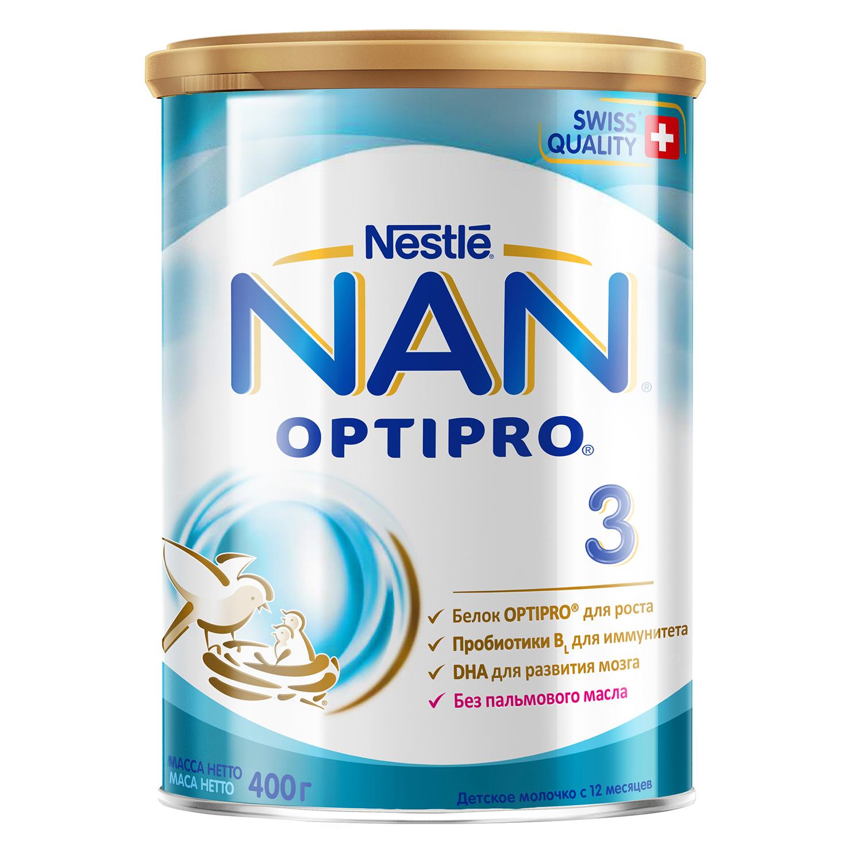 Купить Молочная смесь Nestle NAN 3 с 12 мес., 400 г, Детские смеси 3 (от года)