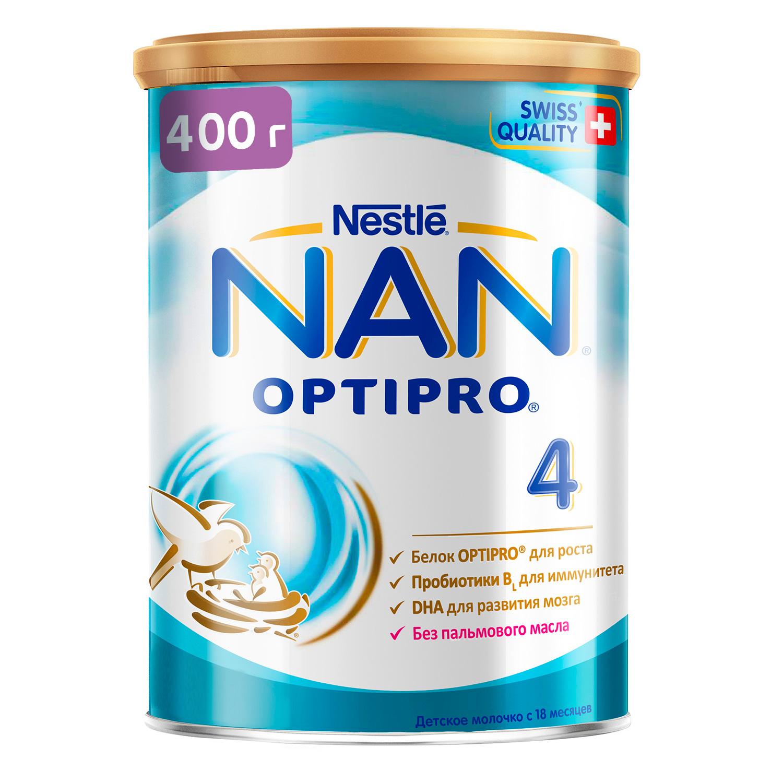 Купить Молочная смесь Nestle NAN 4 с 18 мес., 400 г, Детские смеси 4 (с 18 мес)