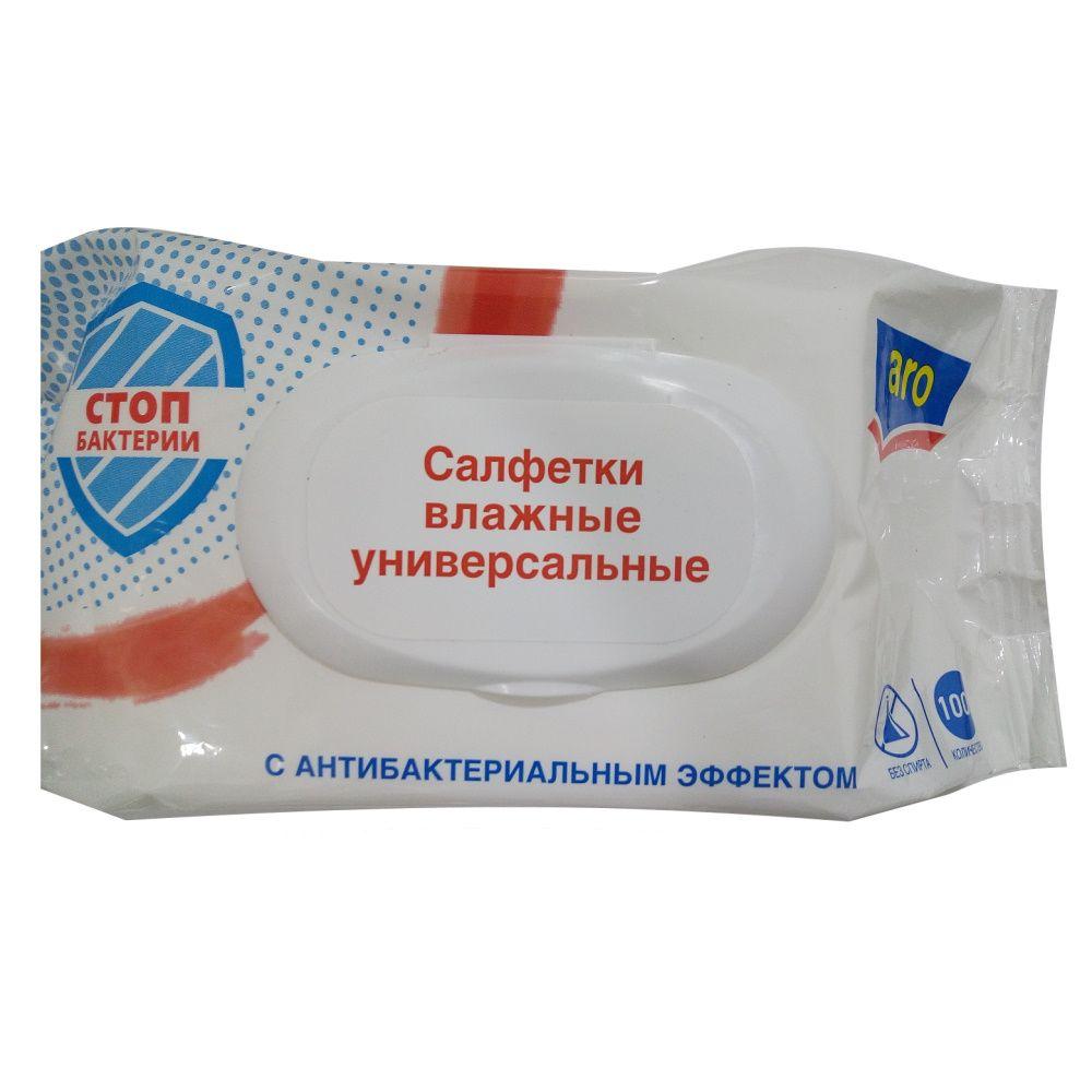 Салфетки Aro влажные антибактериальные 100 шт