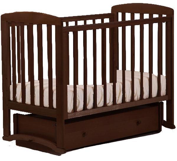 Купить АБ 16 Ромашка кровать детская маятник универсальный орех темный 35, Лель,