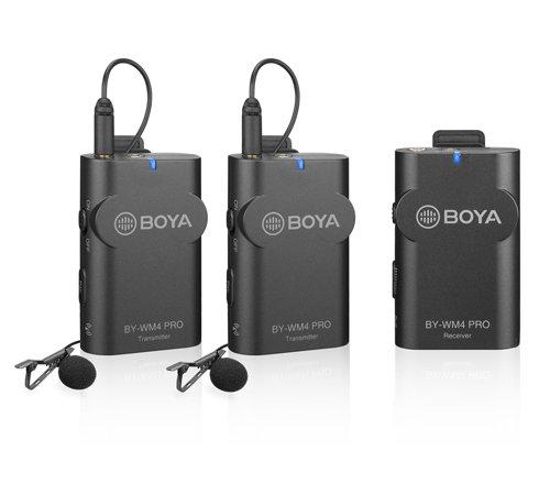 Двухканальная беспроводная радиосистема Boya BY-WM4 PRO-K2