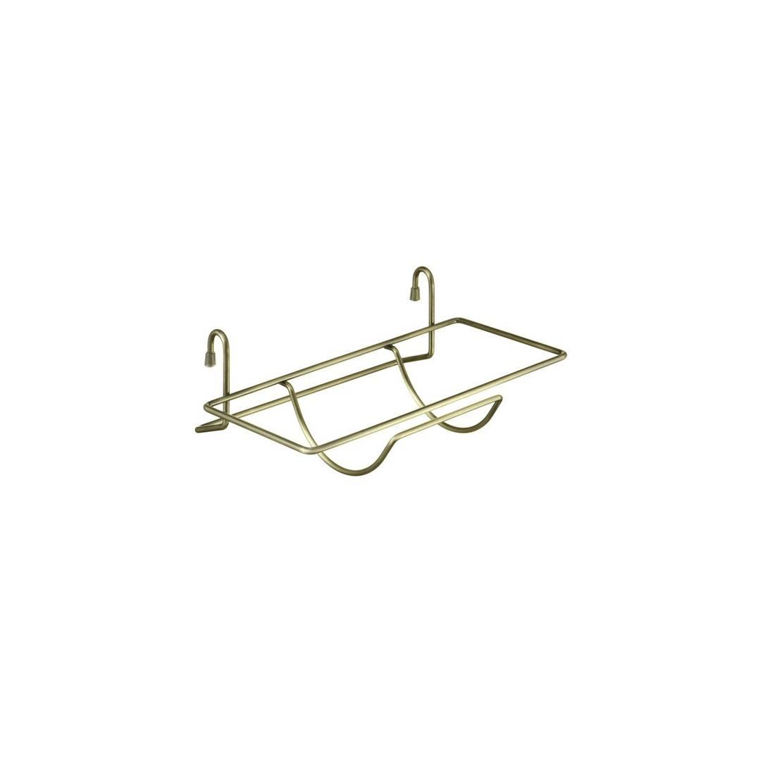 Полка на рейлинг для бумажного полотенца, бронза