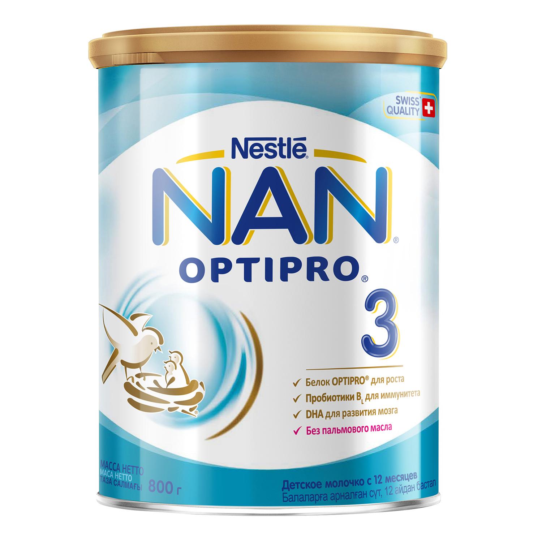 Купить Молочная смесь Nestle NAN 3 с 12 мес., 800 г, Детские смеси 3 (от года)