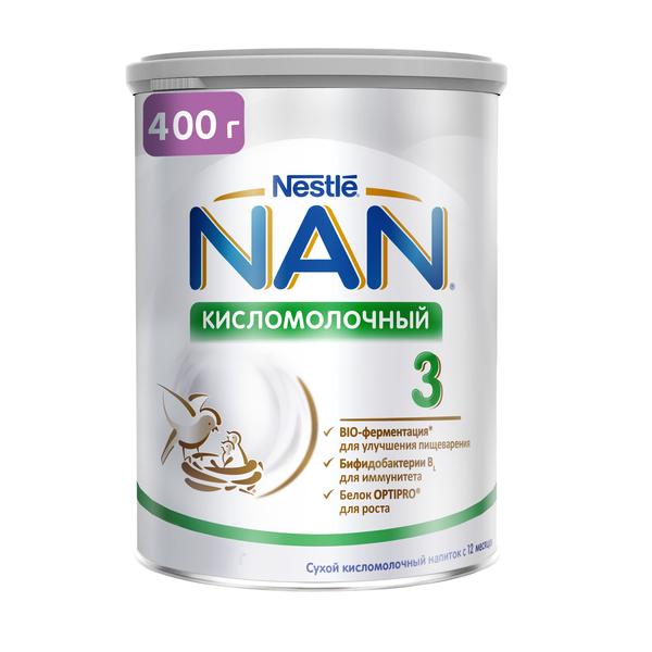Купить Молочная смесь Nestle NAN Кисломолочный 3 с 12 месяцев 400 г, Детские смеси 3 (от года)