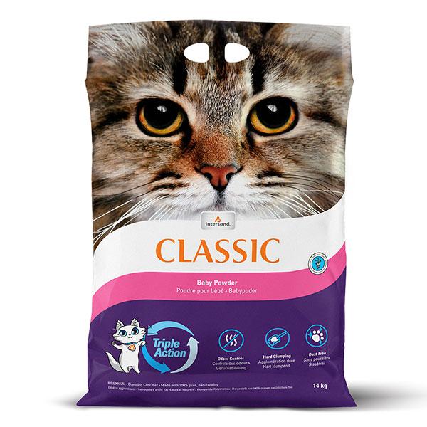 Комкующийся наполнитель для кошек Intersand Classic Unscented