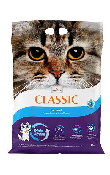 Комкующийся наполнитель для кошек Intersand Classic бентонитовый,