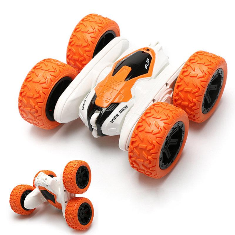 Машина-перевертыш радиоуправляемая Stunt Оранжевый