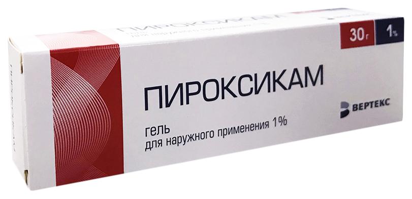 Пироксикам-Верте гель 1% туба 30 г