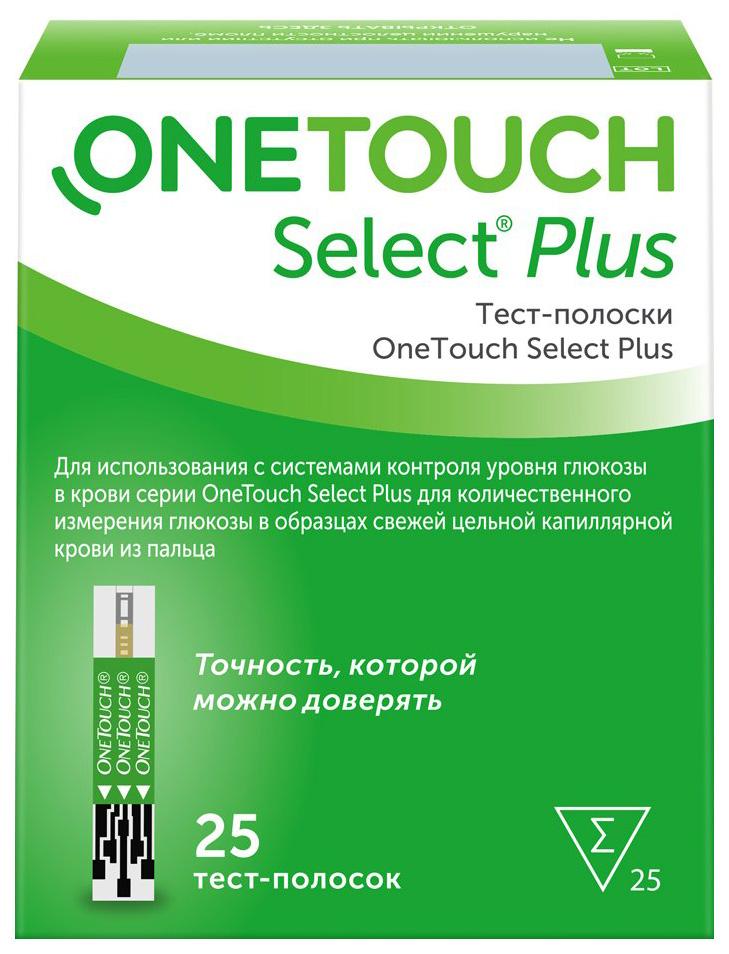 Купить Select Plus, Тест-полоски OneTouch Select+ 25 шт., Johnson & Johnson