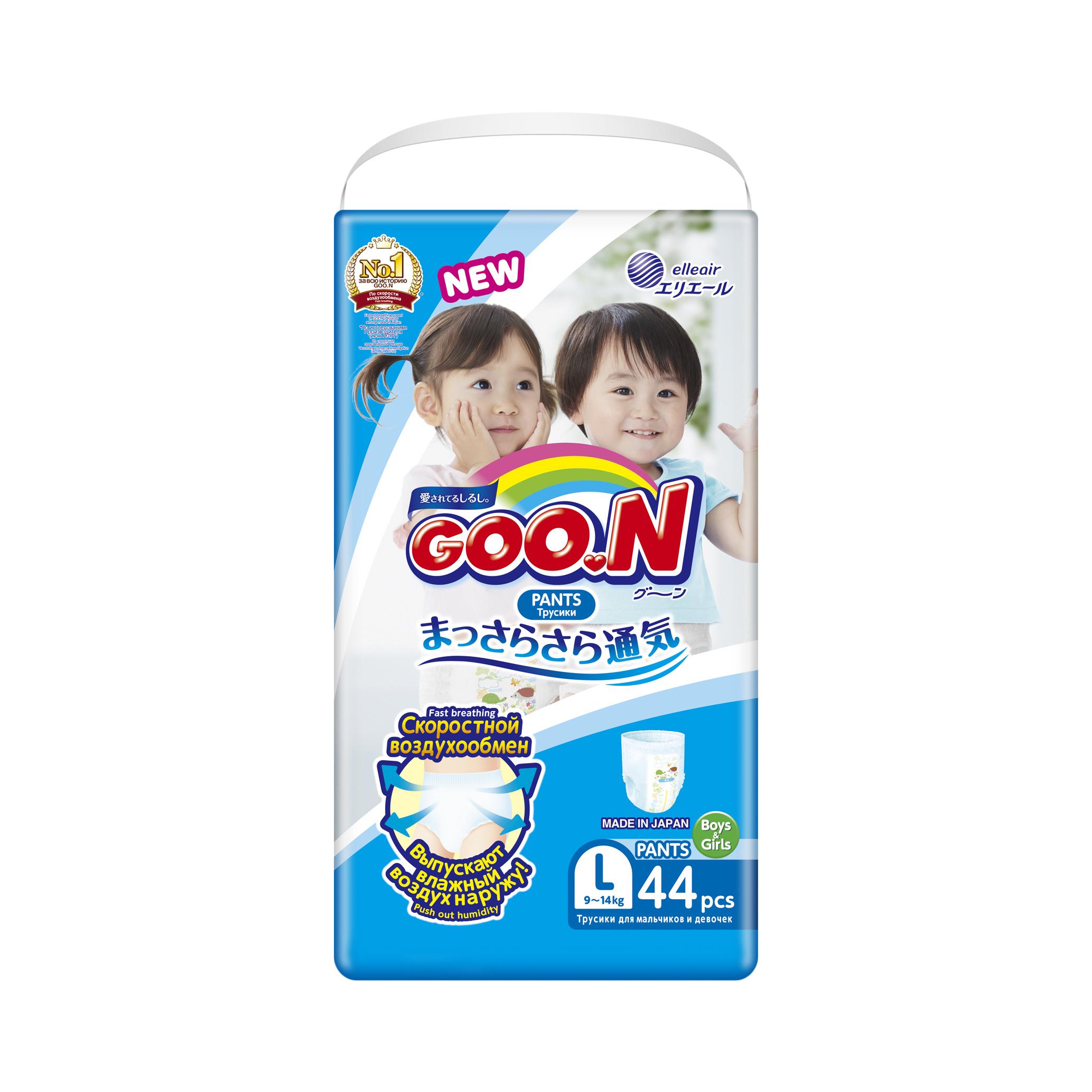 Купить Premium, Подгузники-трусики Goon 9-14 кг L 44 шт.,