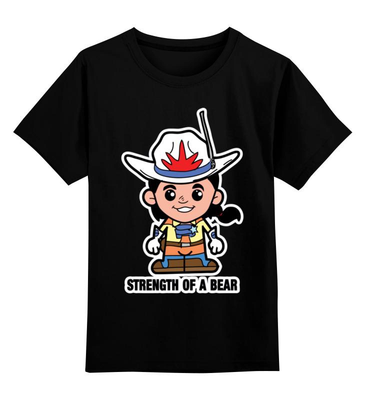 Купить 0000003465121, Детская футболка Printio Звезда отваги цв.черный р.116,