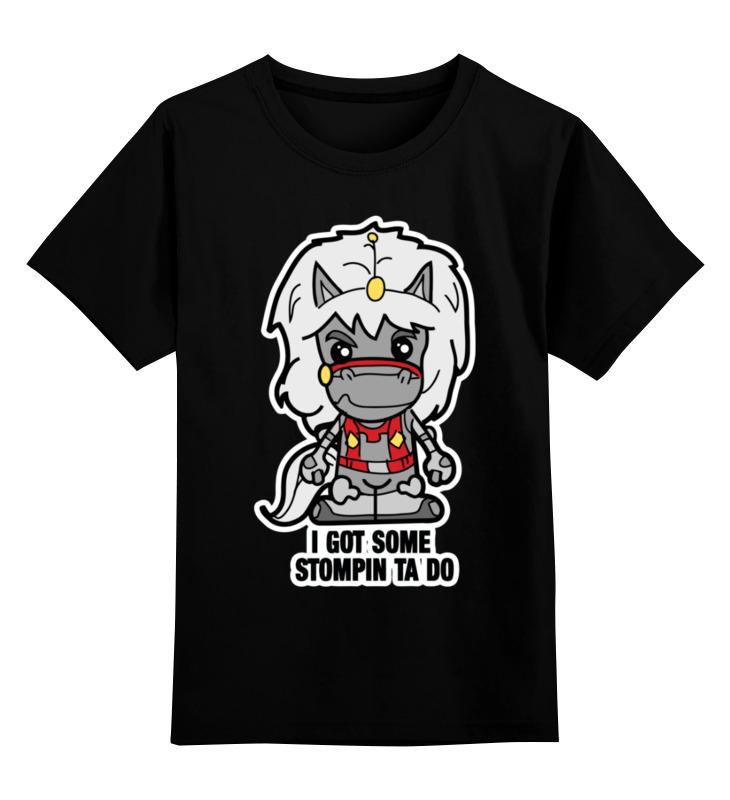 Купить 0000003465123, Детская футболка Printio Звезда отваги цв.черный р.116,