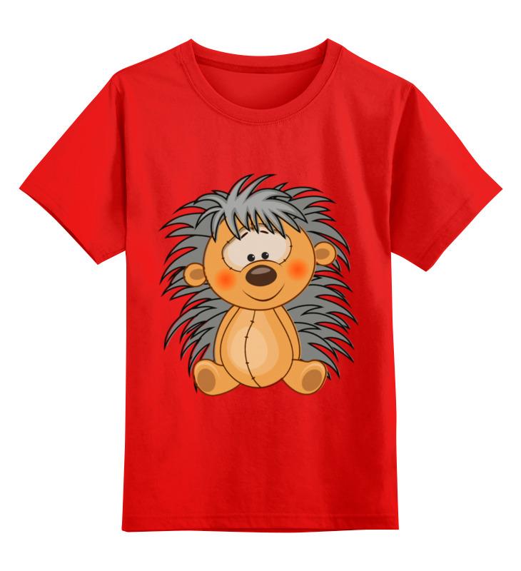 Купить 0000003414794, Детская футболка Printio Ежик цв.красный р.104,