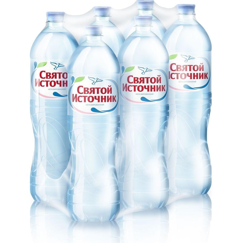 Вода питьевая Святой Источник негазированная пластик 1.5 л 6 штук в упаковке фото
