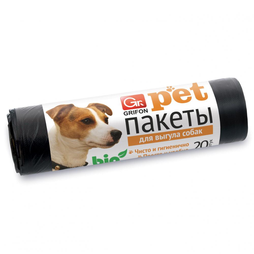 Пакеты GRIFON для выгула собак 25х40см, 15мкм,